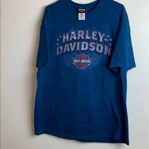 Harley-Davidson Dark Blue Mobile Bay Tee T-Shirt